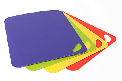 Dexas Heavy Duty Grippmats Cutting Boards, Set of Four